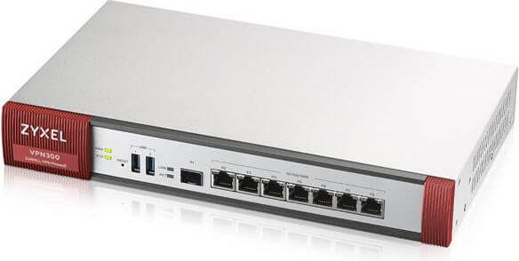 Zyxel Zyxel VPN300 Firewall, 300xVPN, 10xSSL, 7xWAN/LAN/DMZ, 1xSFP, WiFi Controler - VPN300-EU0101F 1