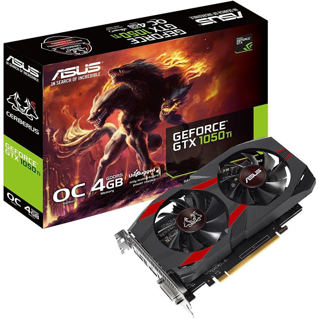 Karta graficzna Asus GeForce GTX 1050Ti Cerberus OC 4GB GDDR5 (CERBERUS-GTX1050TI-O4G) 1