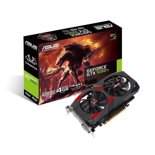 Karta graficzna Asus GeForce GTX 1050Ti Cerberus Advanced Edition 4GB GDDR5 (CERBERUS-GTX1050TI-A4G) 1