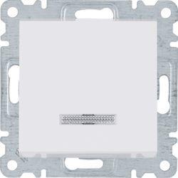 Hager Polo Łącznik zwierny z podświetleniem 10AX 230V biały (WL0410) 1