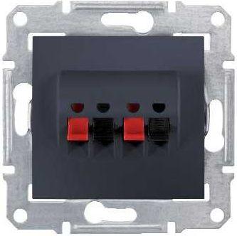Schneider Electric Gniazdo głośnikowe podwójne grafitowe (SDN5400170) 1