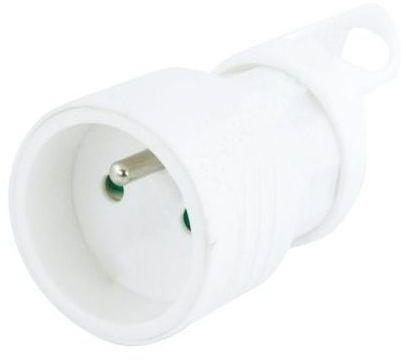 Emos Gniazdo przenośne proste 10/16A 250V 2P+Z z uchwytem białe EM-FBYC-01 (P0045) 1