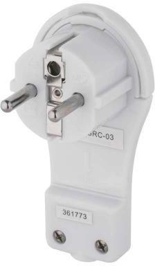 Emos Wtyczka kątowa ultra płaska 16A 2P+Z 250V z uchwytem biała P0066 - P0066 1