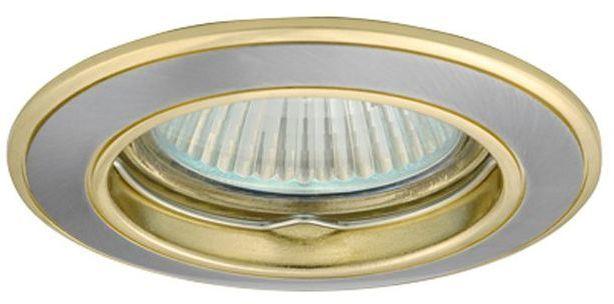 GREENLUX Oczko halogenowe 12V MR16 GU5,3 50W odlewane, nieregulowane, satynowy nikiel/ złoty AXL 5514 PO16P-SN/G (GXPL018) 1