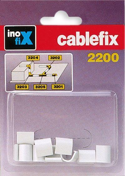 CABLEFIX Złączka prosta do rynienek ochronnych na kable 2200 biała blister 10szt. (3201-2) 1