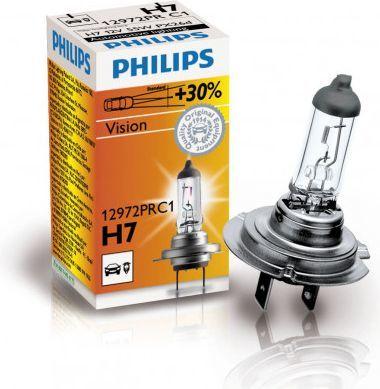Philips Żarówka H7 Vision +30% 12V 55W PX26D 1