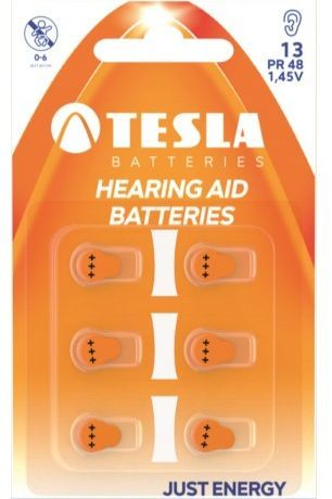 Tesla Bateria do aparatów słuchowych PR48 90mAh 6szt. 1