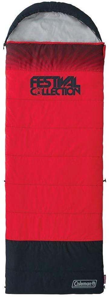 Coleman Śpiwór Festival Riff Single Black/Red (2000032334) 1