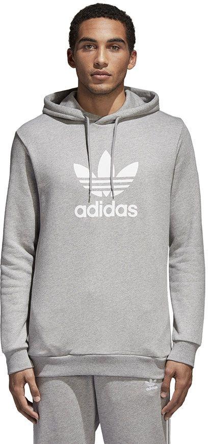 Adidas Bluza męska Originals Trefoil Warm Up szara r. L (CY4572) ID produktu: 1792932