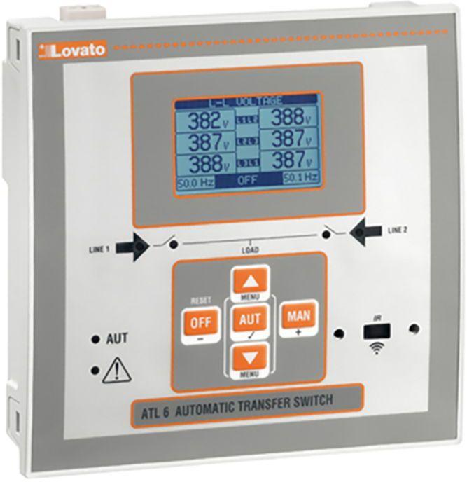 LOVATO Electric Automatyczny przełącznik sieci 12-24V DC/ 100-240V AC obudowa 144x144mm do rozbudowy modułami EXP (ATL610) 1