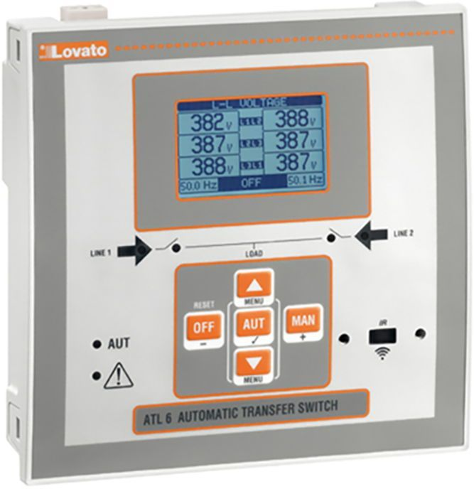 LOVATO Electric Automatyczny przełącznik sieci zasilanie 100-240V AC obudowa 144x144mm (ATL600) 1
