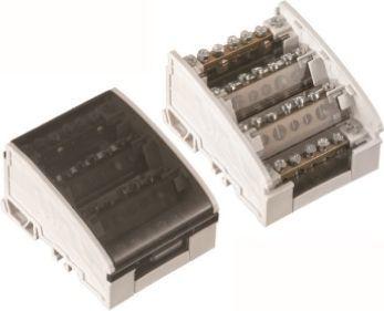 Pawbol Blok rozdzielczy 100A 500V 4P 7-zaciskowy E.4076 1