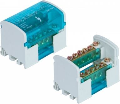 Pawbol Blok rozdzielczy 100A 500V 2P 7-zaciskowy E.4073 1