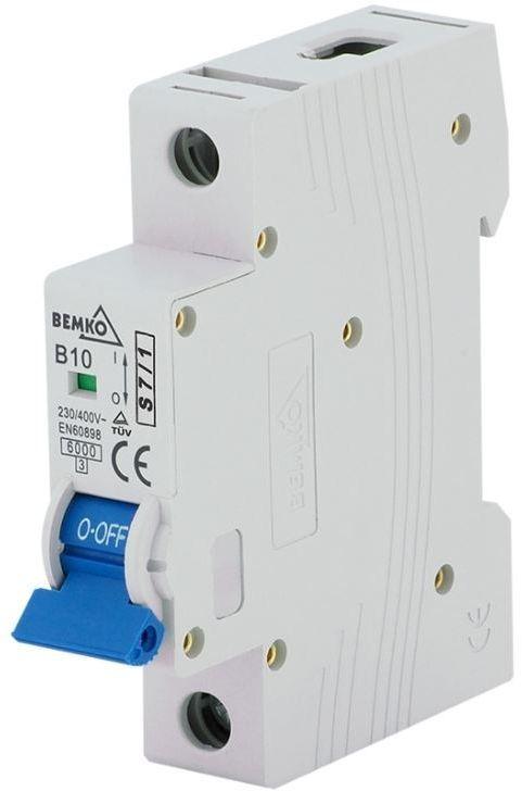 Bemko Wyłącznik nadprądowy 1P C 16A (A00-S7-1P-C16) 1
