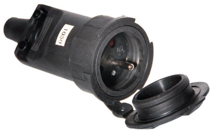 Pawbol Gniazdo przenośne gumowe z/u 16A 250V IP65 (D.3149) 1