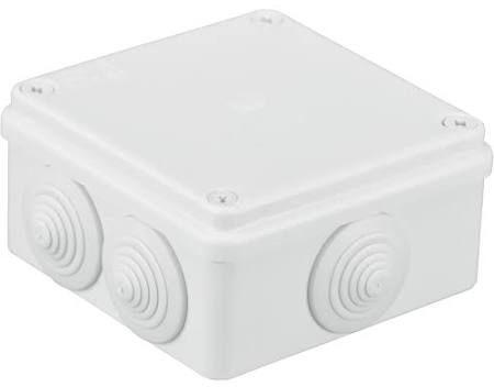 Pawbol Puszka n/t hermetyczna 100x100x50 6 dławików IP55 biała (S-BOX 106B) 1