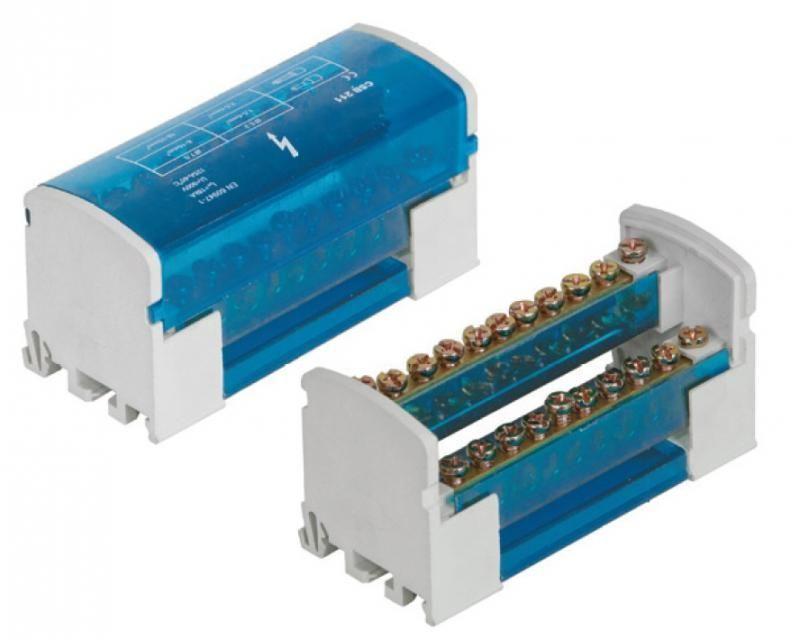 Pawbol Blok rozdzielczy 125A 500V 2P 11-zaciskowy (E.4074) 1
