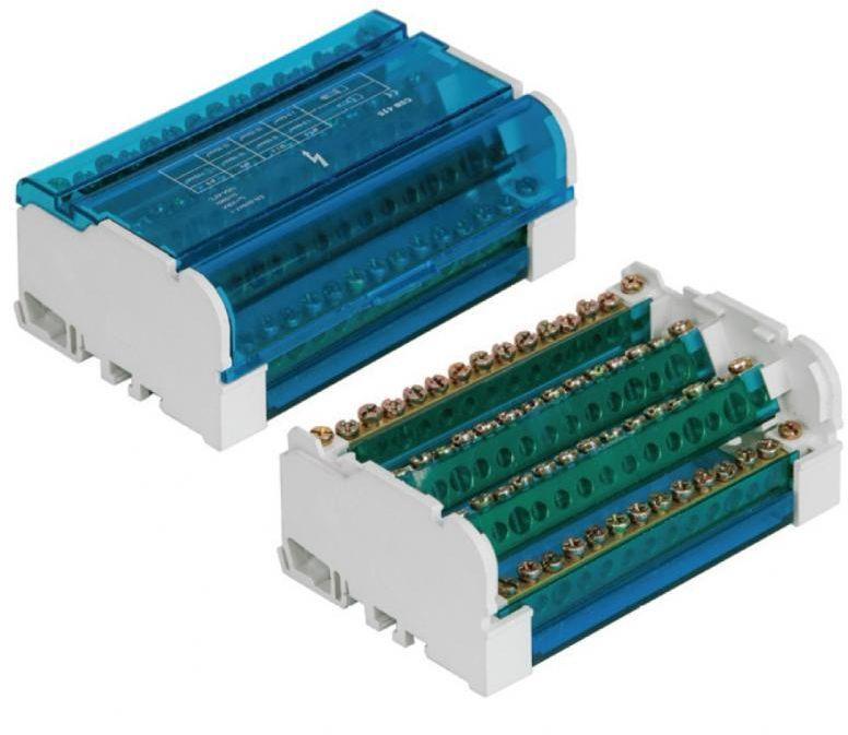 Pawbol Blok rozdzielczy 125A 500V 4P 15-zaciskowy (E.4088) 1