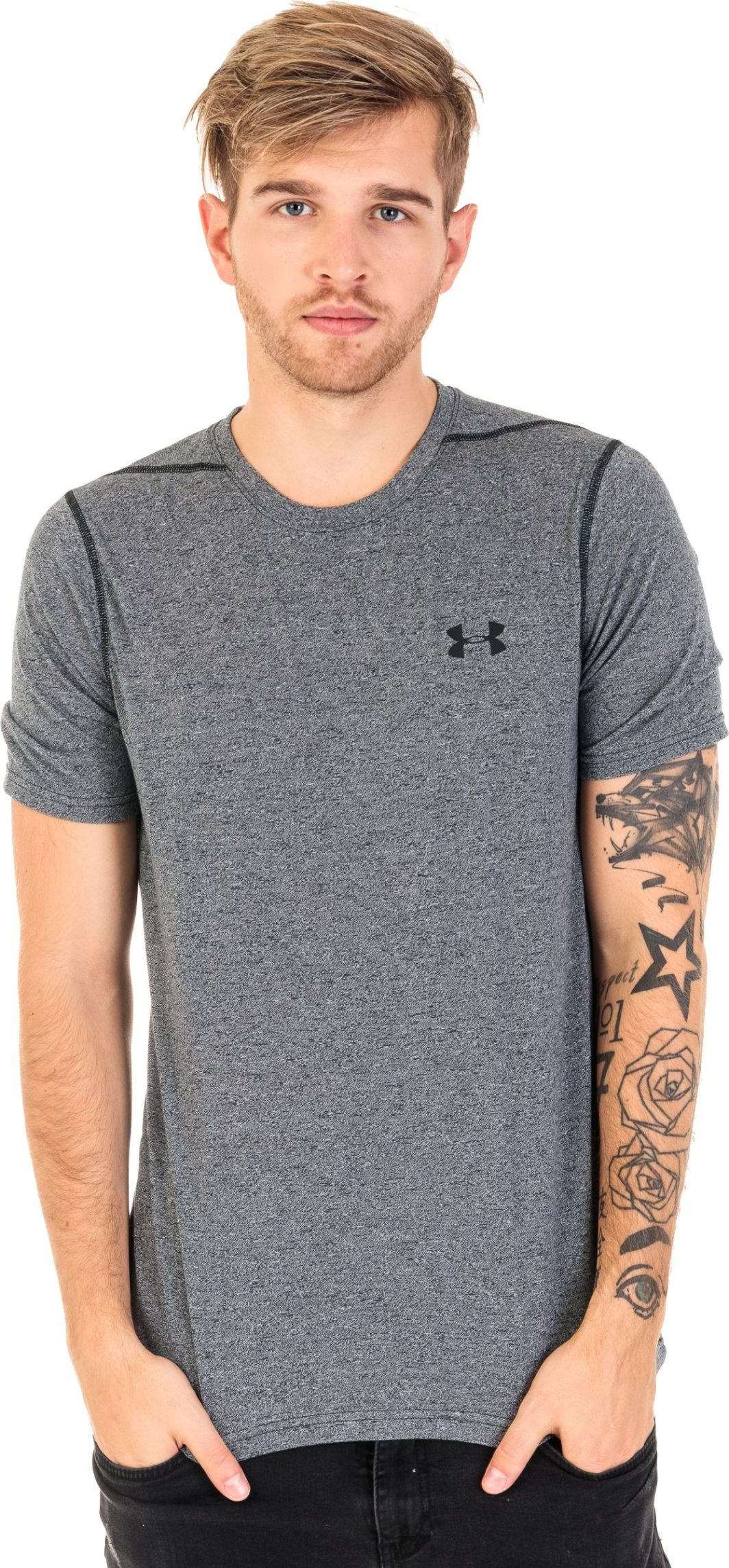 Under Armour Koszulka męska Threadborne T-Shirt Black/Graphite r. L (1289588006) 1