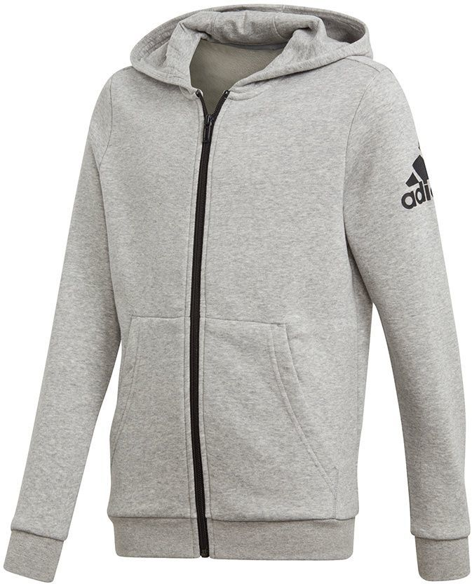 super słodki nowy styl później Adidas Bluza juniorska YB Logo FZ Hoodie szara r. 140 cm (CF6481) ID  produktu: 1810182