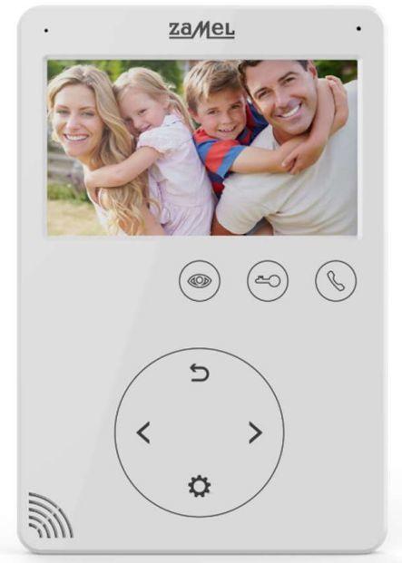 Zamel Wideomonitor z dotykowymi przyciskami 4,3 cala biały VP-816W (ENT10000406) 1