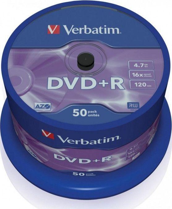 Verbatim DVD+R 4.7 GB 16x 50 sztuk (43550) 1