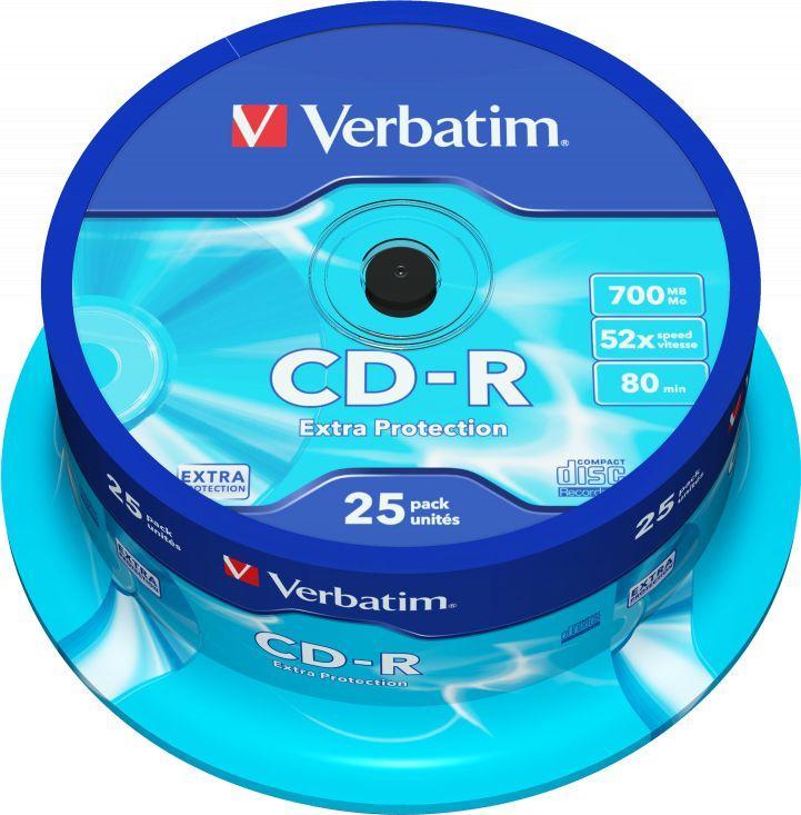 Verbatim CD-R 700 MB 52x 25 sztuk (43432) 1
