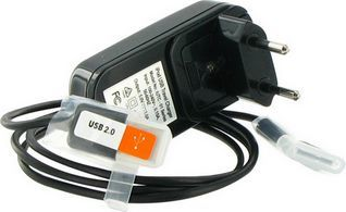 4World iPhone/iPod zestaw do ładowania USB + sieć 230V Czarny (05410) 1