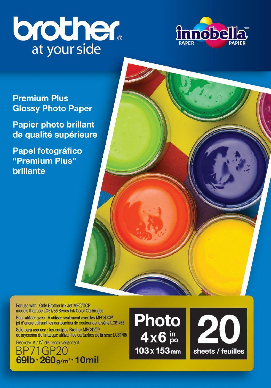 Brother Papier fotograficzny do drukarki A6 (BP71GP20) 1