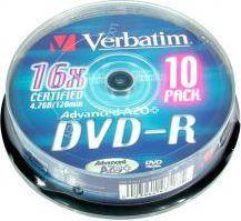 Verbatim DVD-R 4.7 GB 16x 10 sztuk (43521) 1