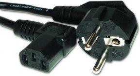 Kabel zasilający Gembird kątowy 1.8M (PC-186A-VDE) 1