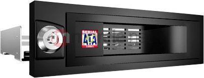 Kieszeń Icy Box 5,25' na dysk SATA 3,5'', czarna (IB-168SK-B) 1