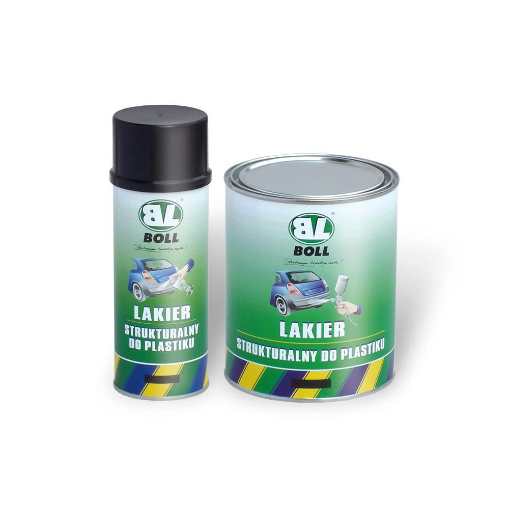 BOLL Lakier strukturalny w aerozolu do plastiku czarny mat 400ml (001400) 1