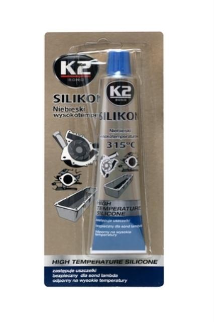 K2 Sport Silikon wysokotemperaturowy K2 Niebieski +315°C 85g (K1085) 1
