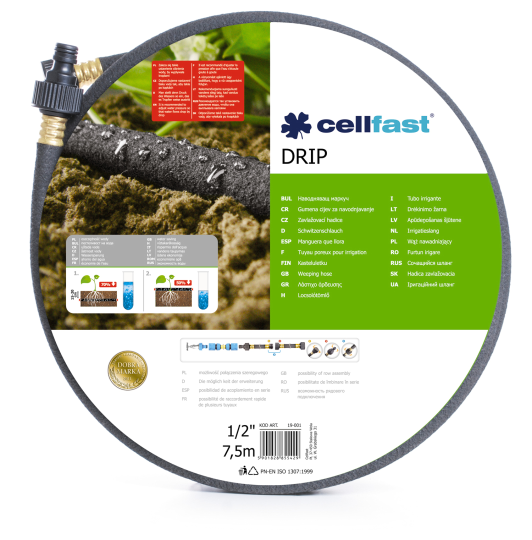 """Cellfast Wąż nawadniający Drip 1/2"""" 7,5m (19-001) 1"""