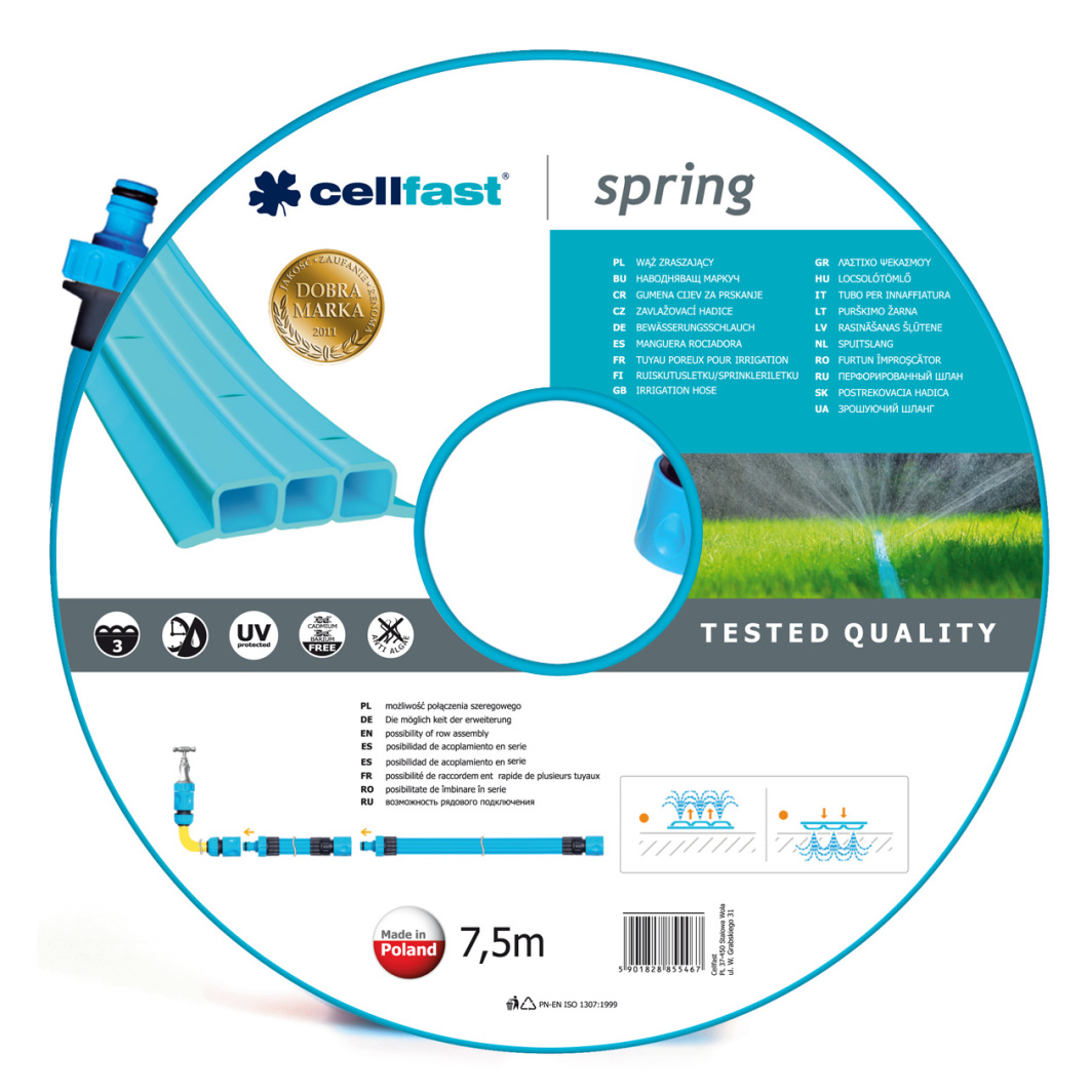 """Cellfast Wąż zraszający Spring 1/2"""" 7,5m (19-021) 1"""