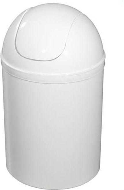 Kosz na śmieci Bisk uchylny 5L biały (90302) 1