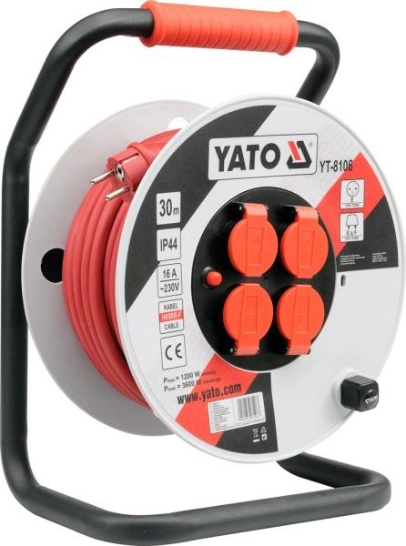 Yato Przedłużacz bębnowy plastikowy 50m przewód 3x2,5mm2 (YT-8108) 1