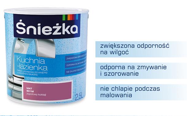 Farba Sniezka Kuchnia Lazienka Mleczna Uczta 2 5l 814m Mat N Opinie I Ceny Na Ceneo Pl