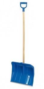 Prosperplast Łopata do śniegu plastikowa niebieska trzonek drewniany DY okucie aluminiowe 49cm ALPIN2A IL2A 1
