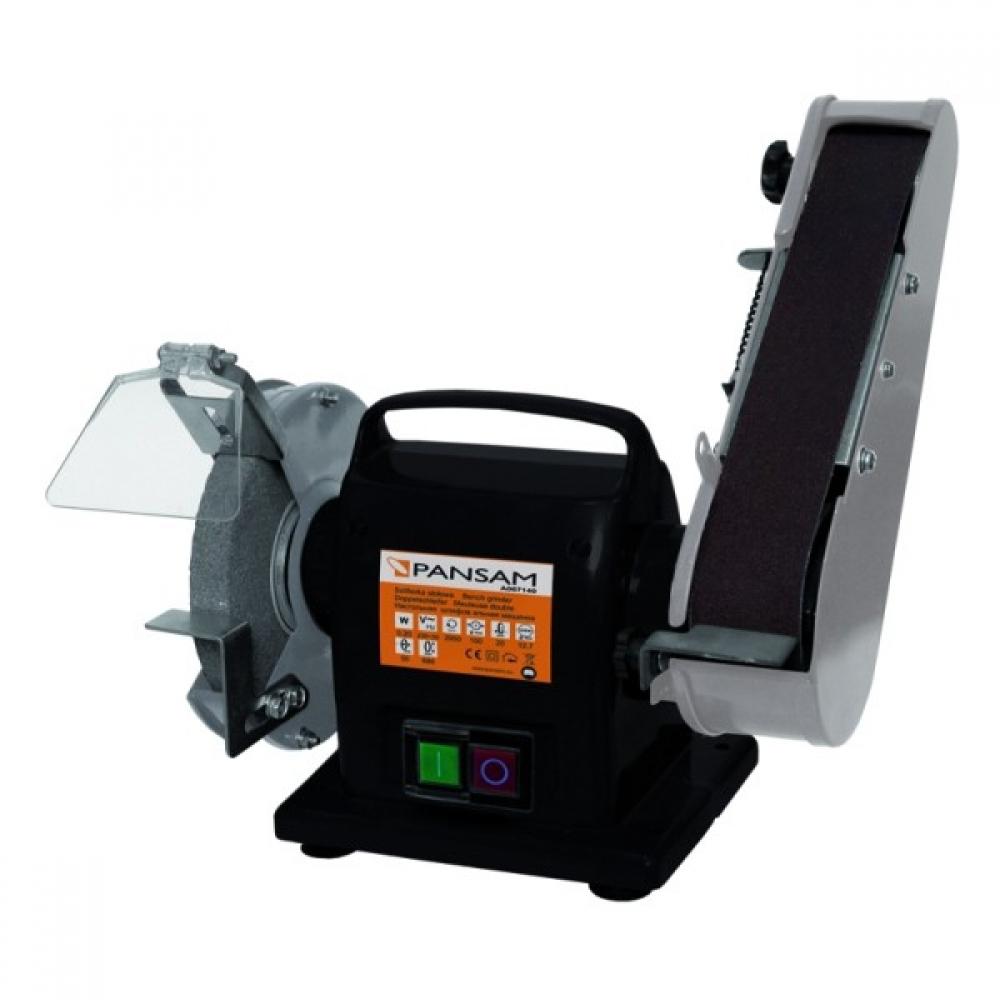 Pansam szlifierka stołowa tarczowo-taśmowa PANSAM 200W 150x20mm (A067140) 1