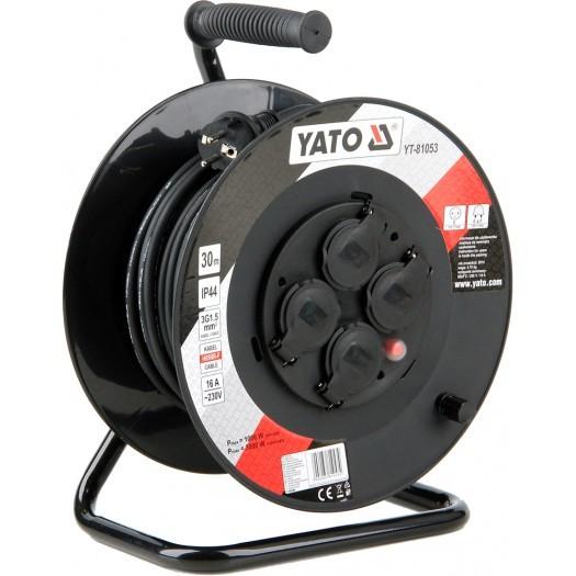 Yato Przedłużacz bębnowy 30m/4 gniazda 230V H05RR-F 3x1,5m2 (YT-81053) 1