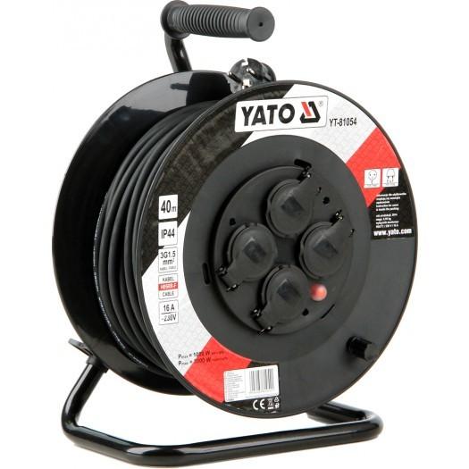 Yato Przedłużacz bębnowy 40m/4 gniazda 230V H05RR-F 3x1,5m2 (YT-81054) 1