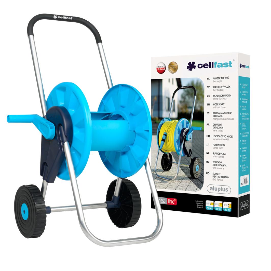 """Cellfast Wózek do węża ogrodowego AluPlus 45m 1/2"""" (55-250) 1"""