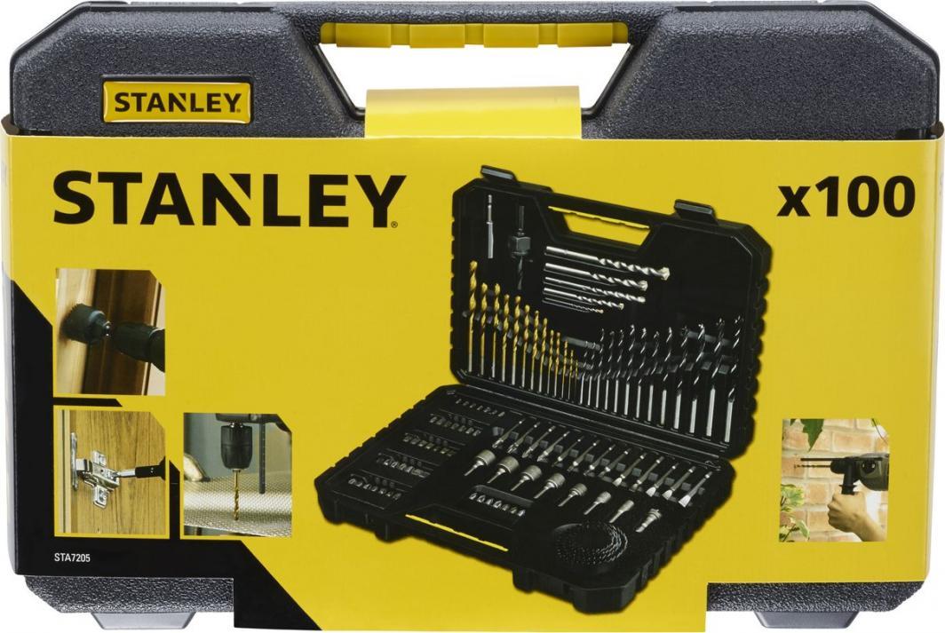 Stanley Komplet wierteł w mocnej kasecie 100szt. (STA7205) 1