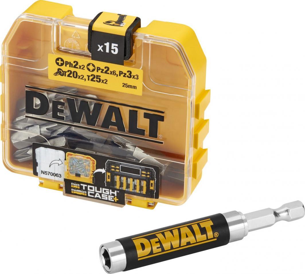 Dewalt Zestaw bitów 15szt. + mocowanie magnetyczne (DT71511) 1