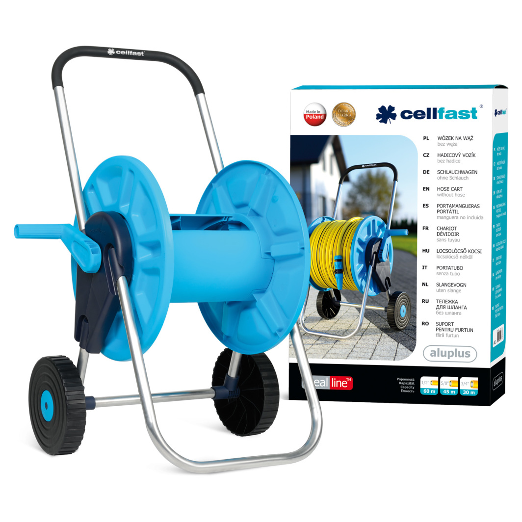 """Cellfast Wózek do węża ogrodowego AluPlus 60m 1/2"""" (55-260) 1"""