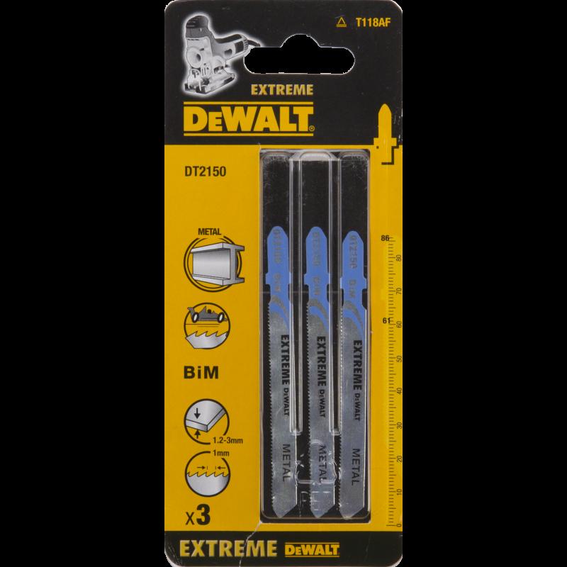 Dewalt Brzeszczot do wyrzynarek typ T BIM86x61mm 3szt. do metalu DT2150 1