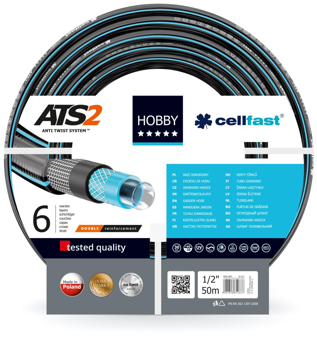 """Cellfast Wąż ogrodowy Hobby 1/2"""" 50m (16-201) 1"""
