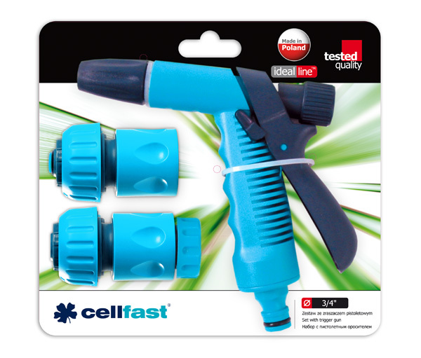 """Cellfast Zestaw 4-części ze zraszaczem pistoletowym 3/4"""" (50-535) 1"""